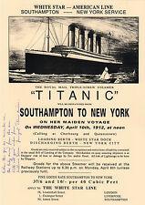 TITANIC survivor - personally signed & poem 12x8 - MILLVINA DEAN