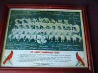 VINTAGE 1953 ST. LOUIS CARDINALS TEAM PHOTO WITH STAN MUSIAL - RARE