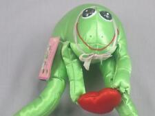 New Russ Berrie Satin Sophisticates Frog Holding Heart Valentine Plush Stuffed