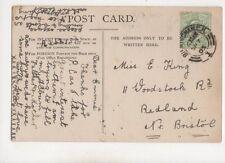 Miss Emmie King Woodstock Road Redland Bristol 1905 398b
