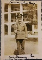 Vintage Old 1940's WWII US Army Photo of Man & Rifle Gun Fort Benning Georgia