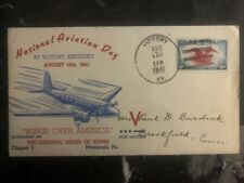 1941 Victory KY USA Cover Aviation National Day Wings Over America