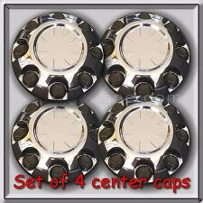 Set of 4 Chrome GMC 2008-2012 8 Lug 2500 Yukon XL Center Caps Bolt-On Hubcaps
