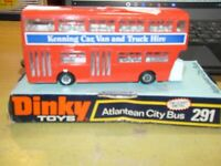 Dinky 291 Leyland Atlantean Double Decker City Bus Chesterfield (1974-78).