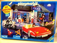 PLAYMOBIL 3623  POLICE STATION HEADQUARTERS Playset Play set New in Sealed Box