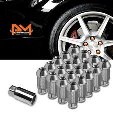 M12X1.25 Gunmetal JDM Open-End Acorn Hex Wheel Lug Nuts+Extension 25mmx50mm 20Pc