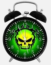 "Skull Alarm Desk Clock 3.75"" Home or Office Decor E168 Nice For Gift"