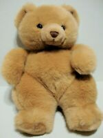 "Russ Berrie Pudgy Teddy Bear Tan Plush Stuffed Animal Toy 10"" #7209 Washable"