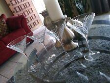 LOOK!! beautiful Mikasa CRYSTAL Martini Glasses Set of 4. Nice & elegants