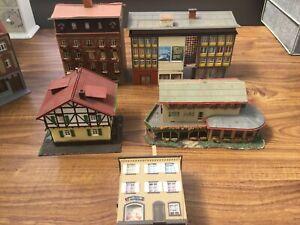 Job Lot Of Ho/oo Gauge  European shops, cafe  and houses
