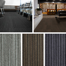 Striped Carpet Tiles Heavy Duty Commercial Contract Loop Pile Stripe Floor Tile
