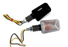 060025 2 FRECCE CORTE NERE LAMPADA OMOLOGATE per TUTTE le MOTO ROYAL ENFIELD