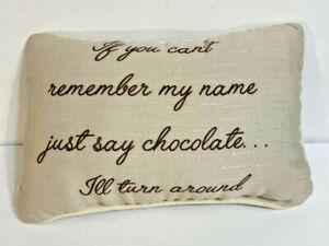 Decorative Pillow If You Cant Remember My Name Just Say Chocolate 11 x 7.5