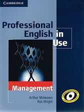 Cambridge PROFESSIONAL ENGLISH IN USE - MANAGEMENT with Answer Key I Wright @NEW