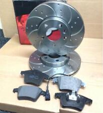VW TRANSPORTER T5 1.9 2.5 TDi FRONT DRILLED AND GROOVED BRAKE DISCS BRAKE PADS
