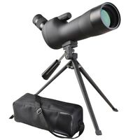 20-60x60mm Zoom Angled Spotting Scope Monocular Telescope with Tripod & Case
