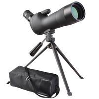 20-60x60mm Zoom Angled Spotting Scope Monocular Telescope with Tripod & Case