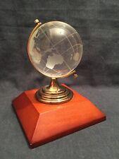 VINTAGE Cristallo Globe su stand (rif. P770)