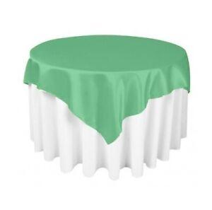 "ADD&SHIP Square Satin Tablecloth (24"" x 24"") - Very Elegant & Durable"