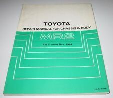 Repair Manual Toyota MR2 Typ AW11 / AW 11 Werkstatthandbuch November 1984!