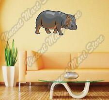 "Hippopotamus Hippo Africa Animal  Wall Sticker Room Interior Decor 25""X18"""