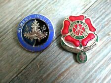 2 Vintage Women's Institute enamel badges