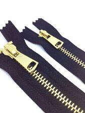 Yellow Brass Sewing Zips