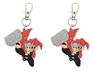 Thor Collar Charm Zipper Pull Badge Reel or Purse Accent Set of 2