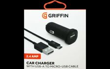 Griffin 2.4AMP USB To Micro USB Car Charger Black  Fast Charge *Free UK POST*