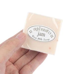 Thailand JAM Rice Soap Original Thailand Handmade Soap Rice Milk Soap whitenHEN