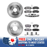 Front And Rear Brake Rotors & Metallic Pads For SEBRING JEEP COMPASS PATRIOT 200