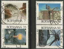 BOTSWANA 1984 MINING INDUSTRY Sc#341-4 COMPLETE USED SET 1502