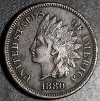 1880 INDIAN HEAD CENT - With LIBERTY & DIAMONDS - XF EF Details