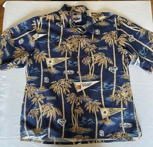 Vintage Reyn Spooner San Diego Padres Baseball Hawaiian Shirt XL USA American