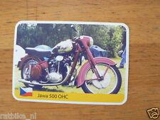 INFO CARD MOTORCYCLE JAWA 500 OHC