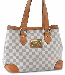 Auth Louis Vuitton Damier Azur Hampstead PM Shoulder Tote Bag N51207 LV E2514