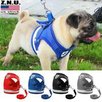 Pets Dog Harness For Chihuahua Pug Dogs Nylon Mesh Puppy Cat Harnesses Vest USA