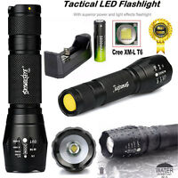 SKYWOLFEYE X800 Tactical Flashlight LED Military Torch G700   Battery   Charger