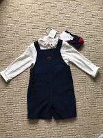 NEW Jasper Conran Junior J Dungaree Top Socks Outfit 18-24mth BNWT Prince George