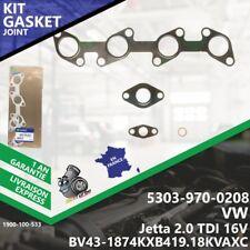 Gasket Kit Joint Turbo VW Jetta 2.0 TDI 16V 5303-970-0208 BV43 CJAA Melett-533