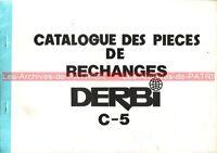 DERBI C-5 : Catalogue des pièces détachées / Part List / Cyclo 50 Derbi C5