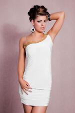 vestito monospalla tubino abito da cocktail bianco J1