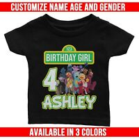 Personalized Sesame Street for Family of Birthday Boy or Girl T-Shirt or Creeper
