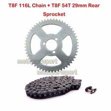 T8F 116L Chain 54Tooth Rear Sprocket For 47cc 49cc Minimoto Pocket Bike ATV Quad