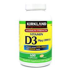 Kirkland Signature Vitamin D3 2000 I.U. 600 Capsules