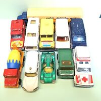 Majorette job lot x11 1970s/80s/90s vintage toy cars, vans, Lorry Diecast Models