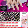 Full Cover False Nail Art Design With Adhesive Glue Tab Press-On Nails Care New