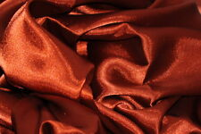 CHARMEUSE LIGHT SATIN POLYESTER FABRIC 60 SEWING RUST SOLID SILKY 75 YARDS