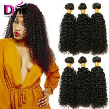 UK 3 Bundles 300g Kinky Curly Weave Virgin Human Hair 100 Unprocessed Brazilian