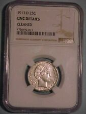 1913-D Barber Quarter NGC UNC Details *GREAT LOOKING COIN*